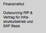 Ausschreibung Infrastruktur- und SAP-Betrieb
