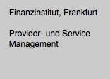Provider Management / Service Management